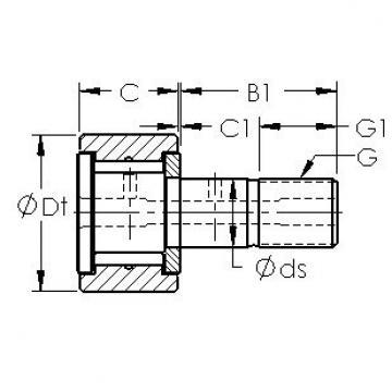 AST CF14 needle roller bearings