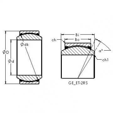 AST GE90ET-2RS plain bearings