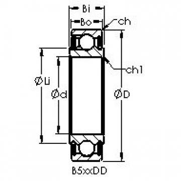 AST B546DD deep groove ball bearings