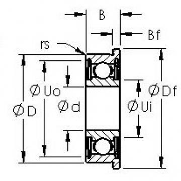 AST FR4ZZ deep groove ball bearings