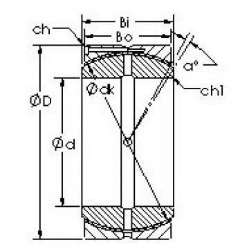 AST GEH140HCS plain bearings