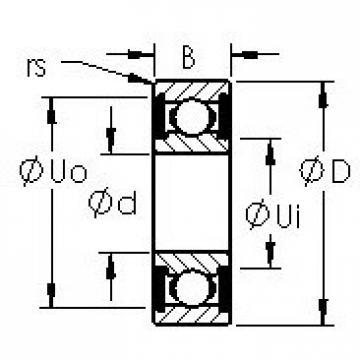 AST 6305-2RS deep groove ball bearings