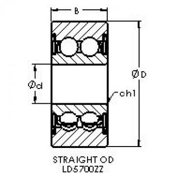 AST LD5700ZZ deep groove ball bearings
