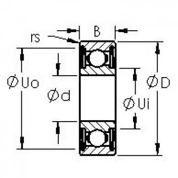 AST SMR104ZZ deep groove ball bearings