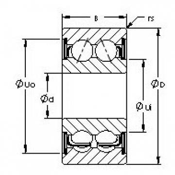 AST 5306ZZ angular contact ball bearings