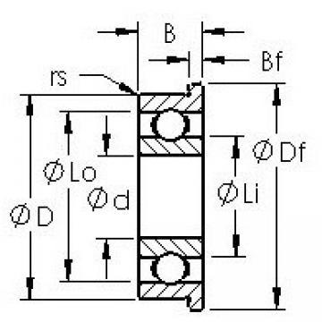 AST F695H deep groove ball bearings