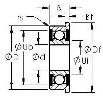 AST F623H-2RS deep groove ball bearings