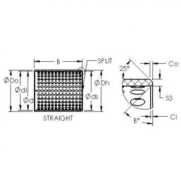 AST ASTT90 5020 plain bearings