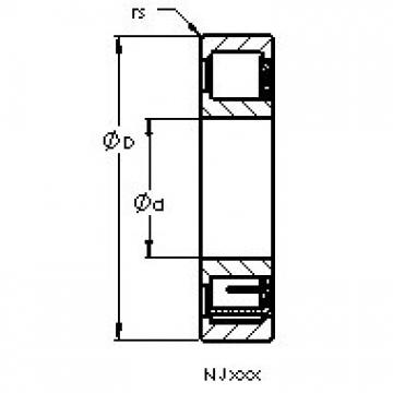 AST NJ2234 EM cylindrical roller bearings